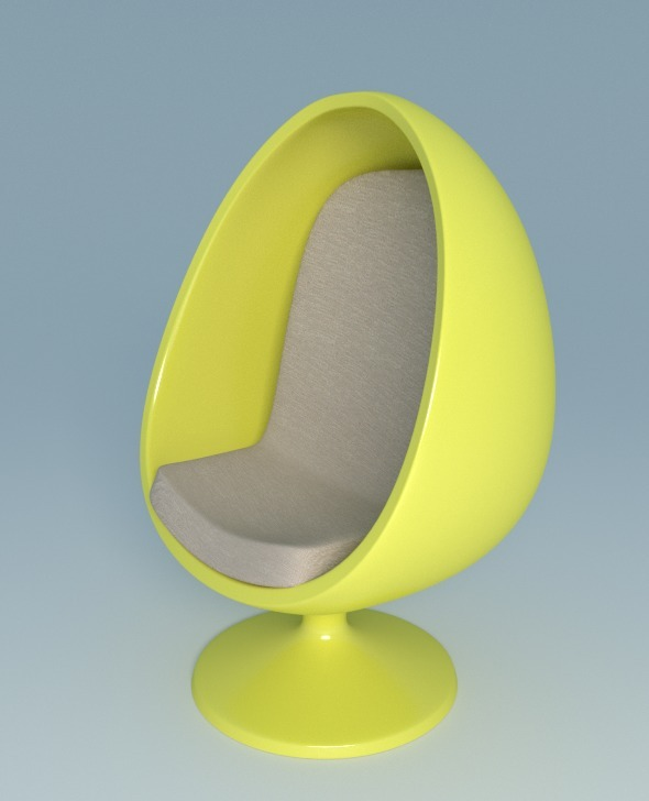 Chair Egg - 3DOcean Item for Sale