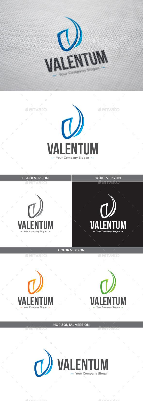 Valentum Logo - Letters Logo Templates