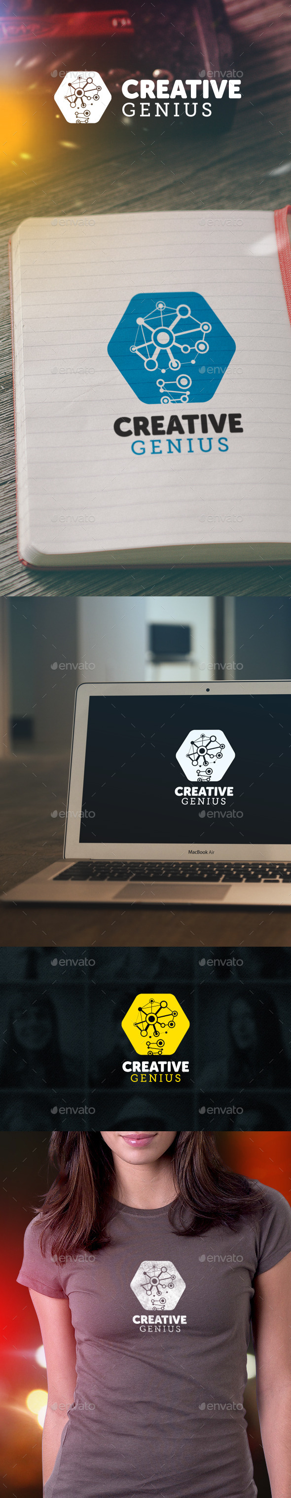 Creative Genius Logo - Abstract Logo Templates