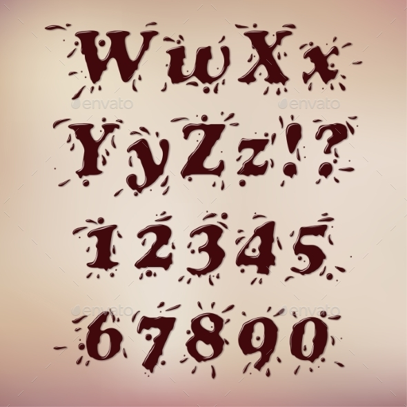 Chocolate Font - Decorative Symbols Decorative