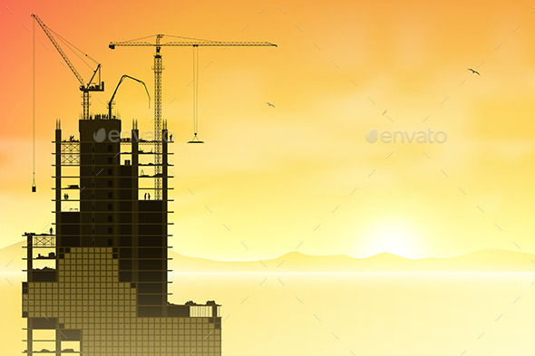 Tower Cranes - Buildings Objects
