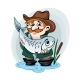 Fisherman Catch a Fish - GraphicRiver Item for Sale