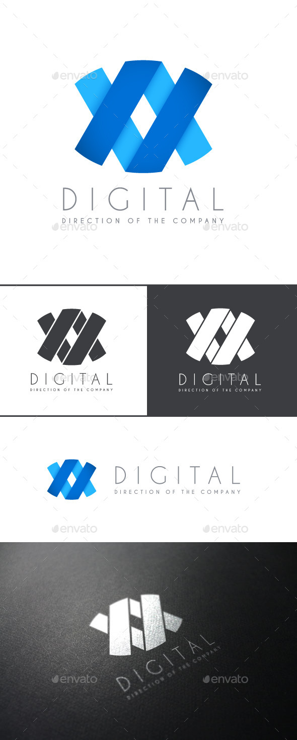 Digital Logo Template - Vector Abstract