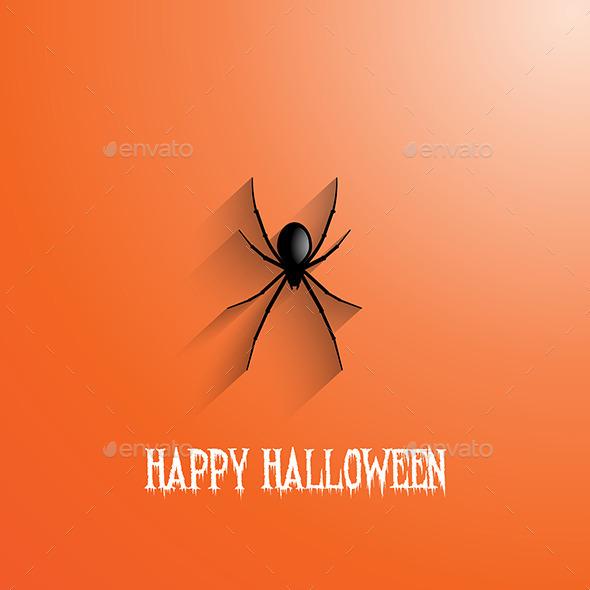 Halloween Spider Background - Halloween Seasons/Holidays