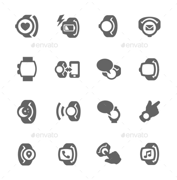 Smart Watch Icons - Objects Icons