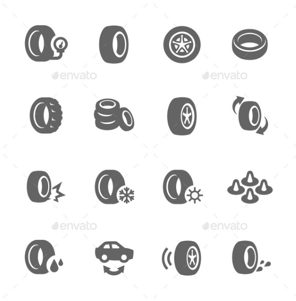 Tire Icons - Objects Icons