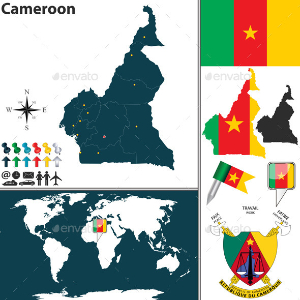 Map of Cameroon - Travel Conceptual