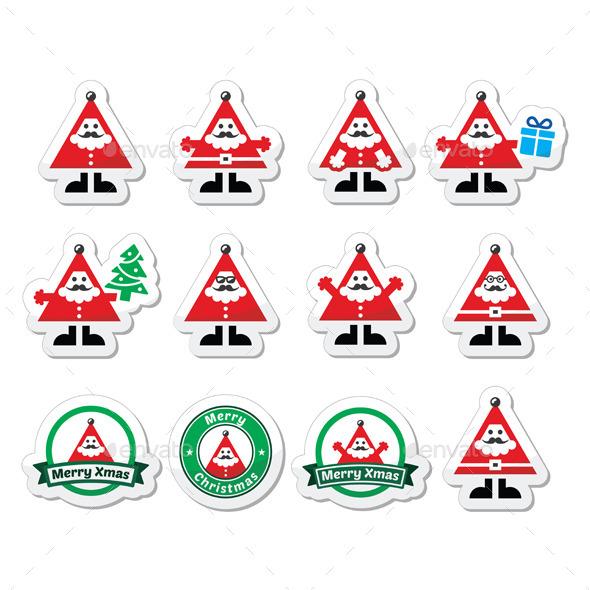 Santa Claus Icons - Christmas Seasons/Holidays
