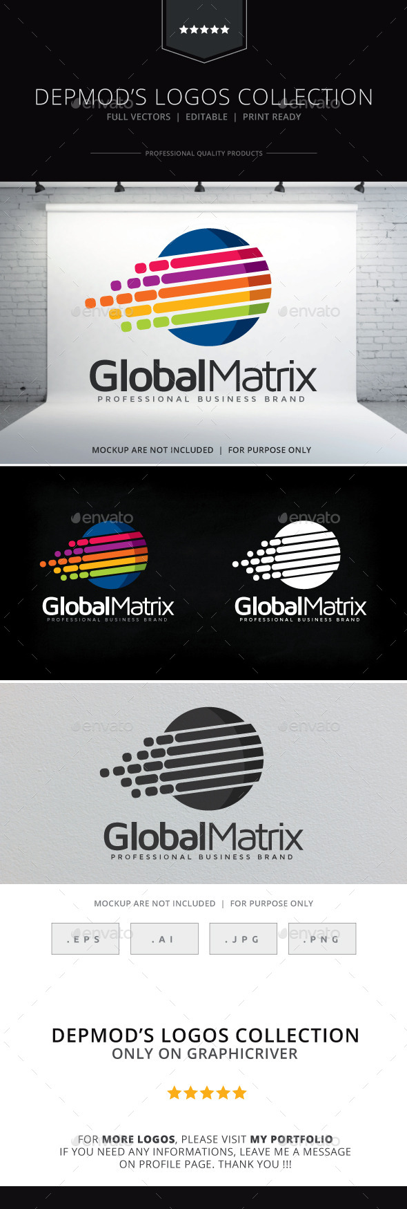 Global Matrix Logo - Abstract Logo Templates