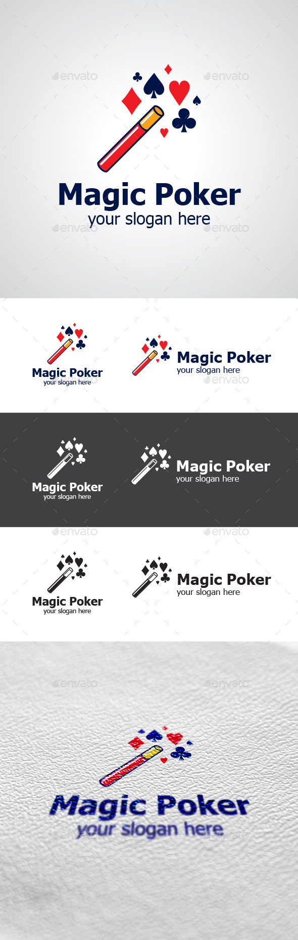 Magic Poker Logo Design - Symbols Logo Templates