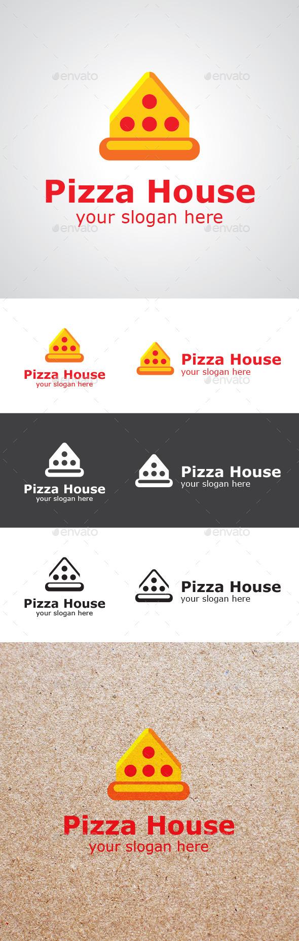 Pizza House Logo Design - Food Logo Templates