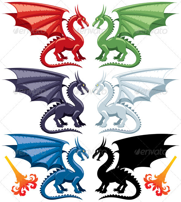 Dragons - Characters Vectors