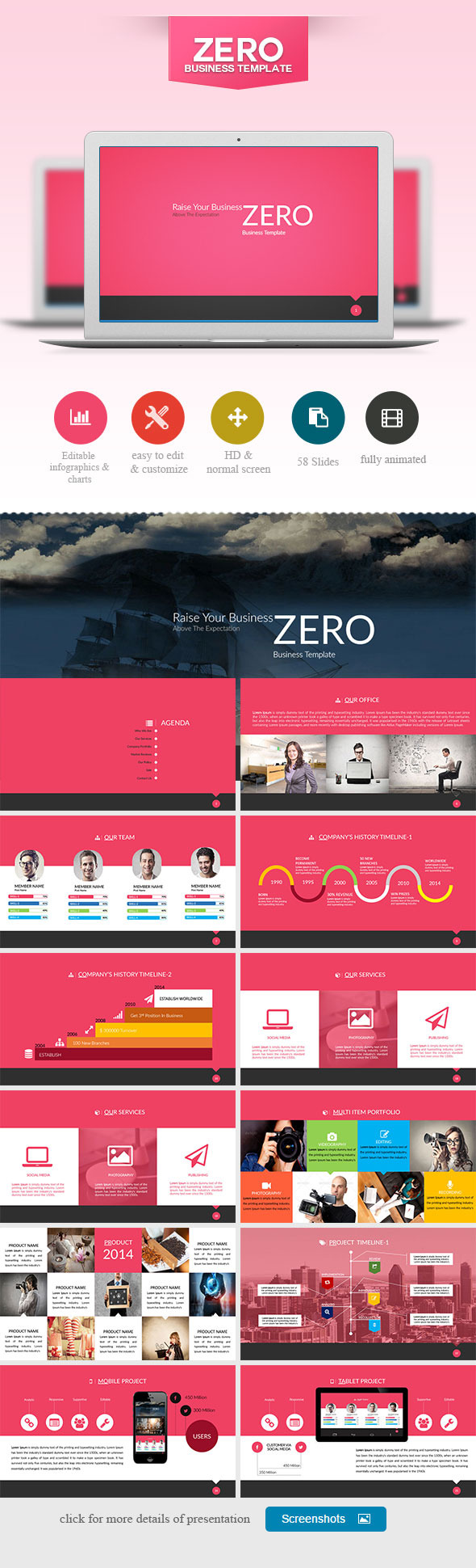 ZERO Power Point Presentation - PowerPoint Templates Presentation Templates