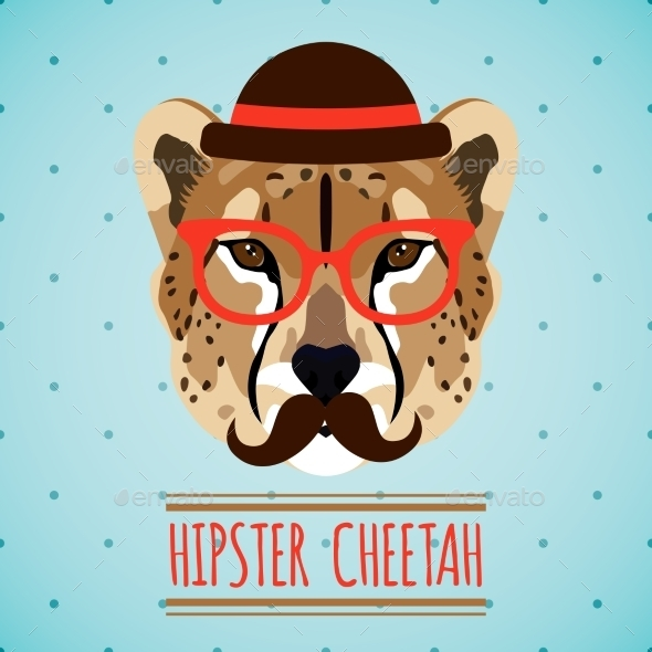 Animal Hipster Portrait - Animals Characters