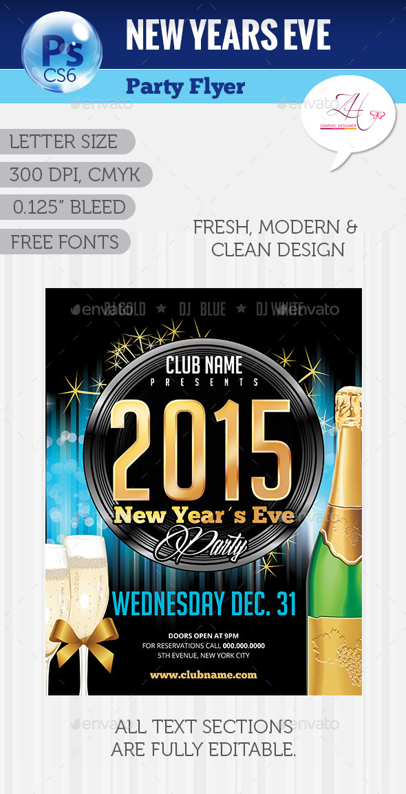 New Year´s Eve Party Flyer - Clubs & Parties Events