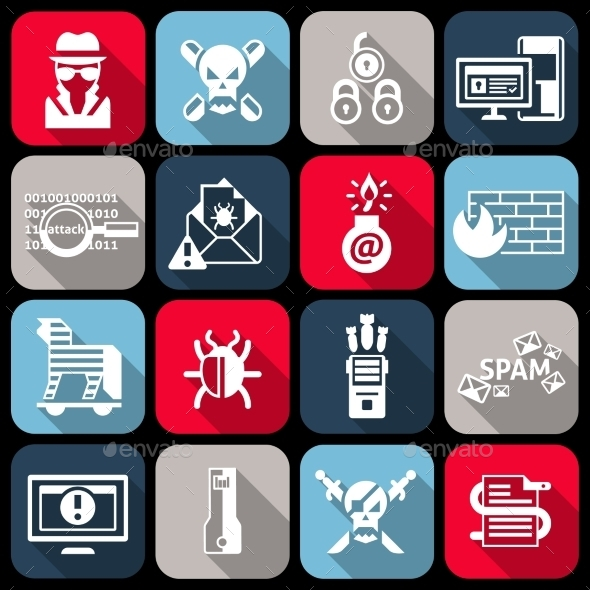 Hacker Icons Set - Web Technology