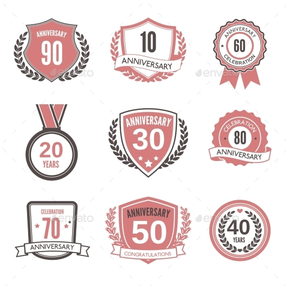 Anniversary Label Set - Web Technology