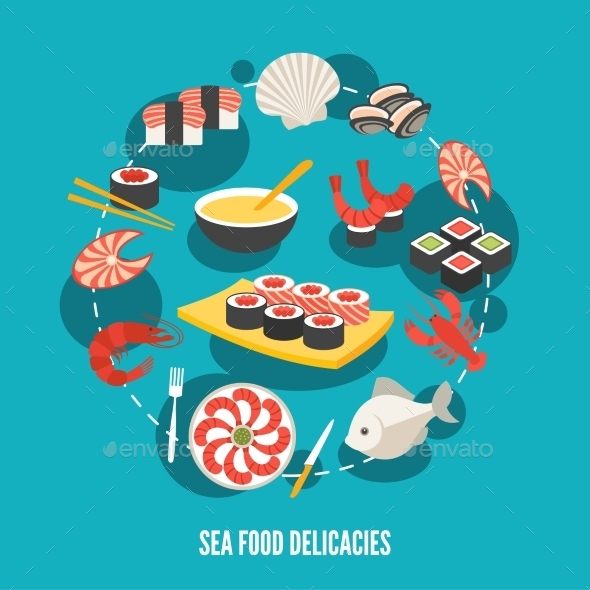 Seafood Delicacies - Food Objects