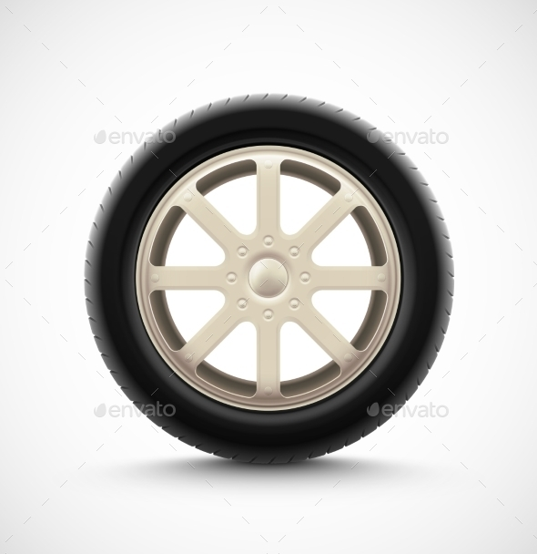 Isolated Car Wheel - Man-made Objects Objects