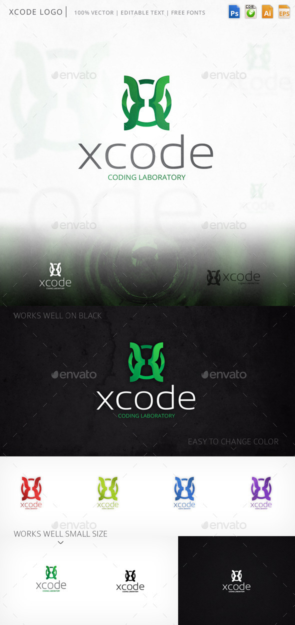 Xcode Letter X Logo Template - Letters Logo Templates