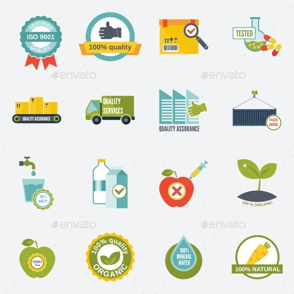Quality Control Icons - Industries Business