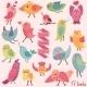 Cartoon Birds Set - GraphicRiver Item for Sale