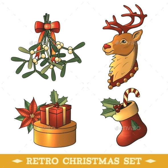 Christmas Icons Colored Set - Christmas Seasons/Holidays