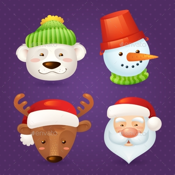 Christmas Characters Set - Miscellaneous Seasons/Holidays