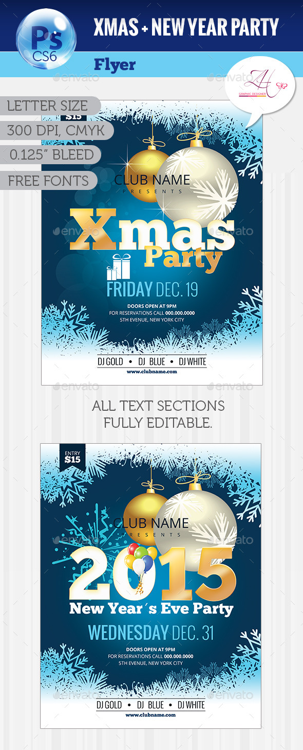 Xmas + NYE Party Flyer - Clubs & Parties Events