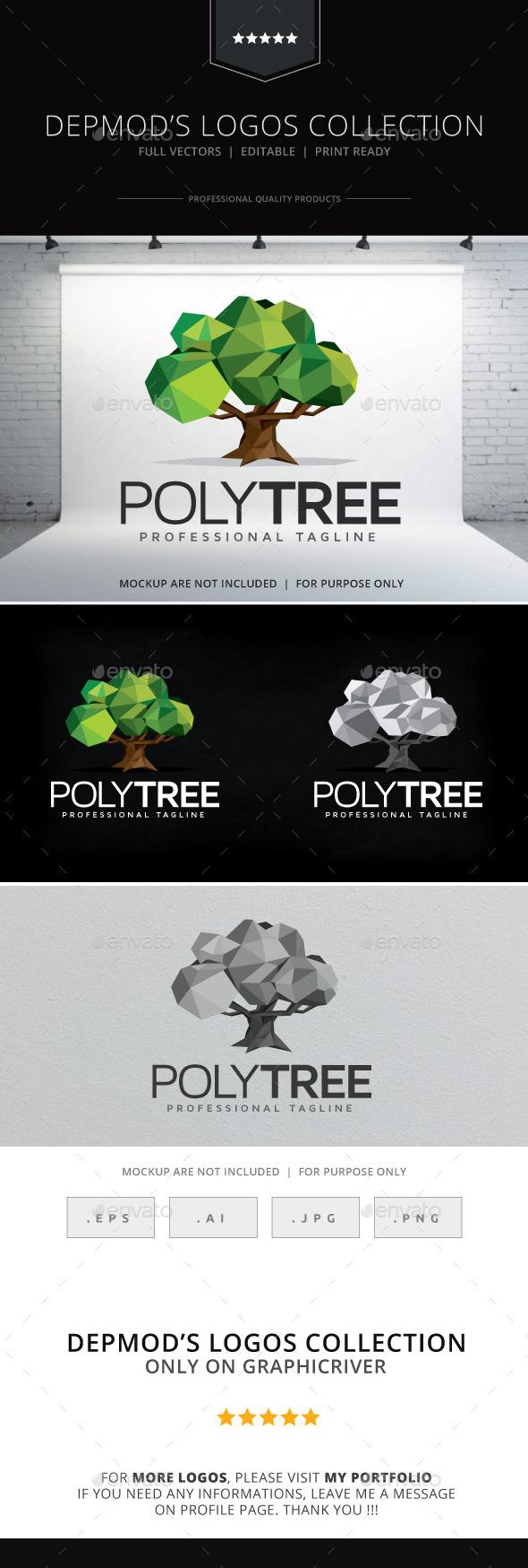 Poly Tree Logo - Nature Logo Templates
