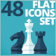 Set of 48 Flat Icons - GraphicRiver Item for Sale