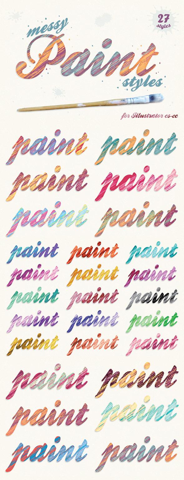 Messy Paint Styles - Styles Illustrator