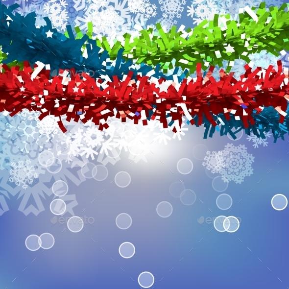Vector Christmas Garland Background - Christmas Seasons/Holidays