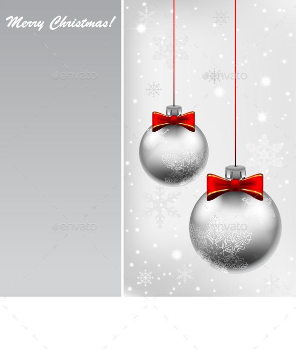 Silver Christmas Ball - Christmas Seasons/Holidays