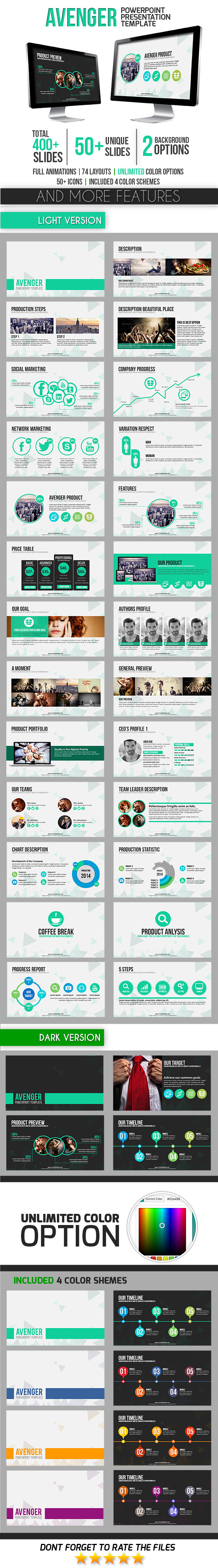 Avenger PowerPoint Template - Business PowerPoint Templates