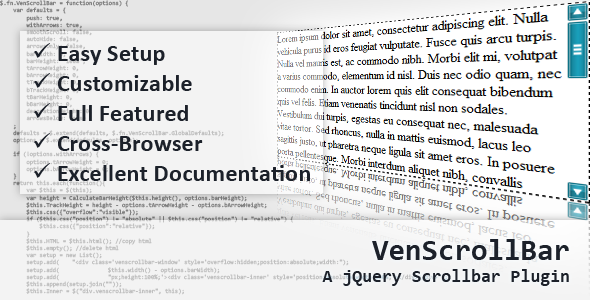 VenScrollBar - A jQuery Scrollbar Plugin - CodeCanyon Item for Sale