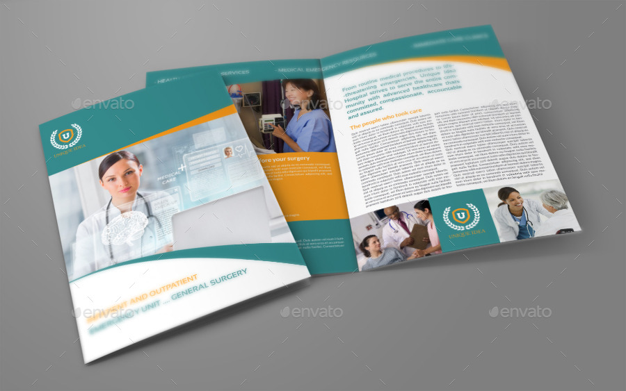 Hospital BiFold Brochure Template Vol2 by OWPictures – Hospital Flyer Template