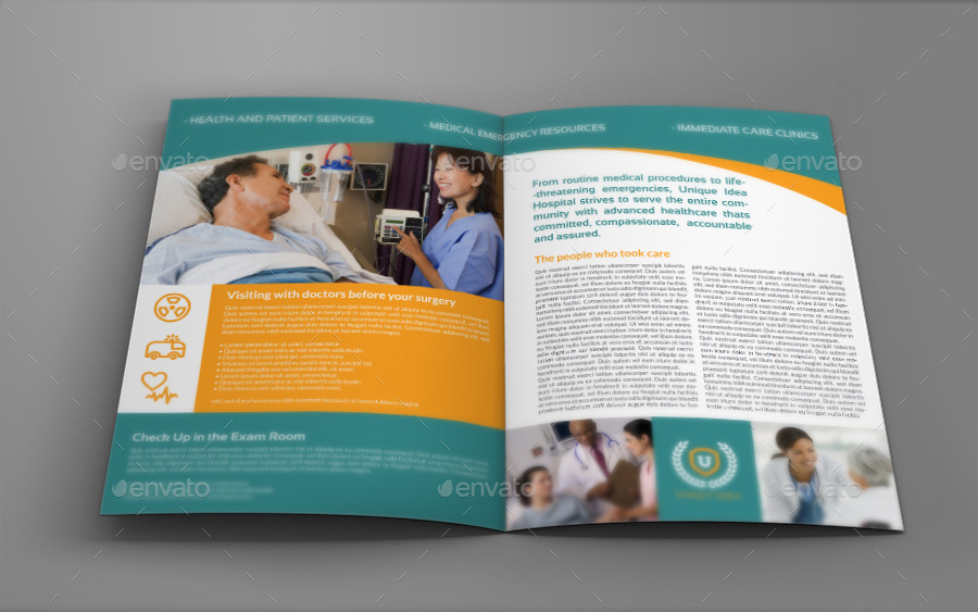Hospital bi fold brochure template vol 2 by owpictures for Hospital menu template