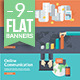 Flat Concepts for Marketing, Finance, Business  - GraphicRiver Item for Sale