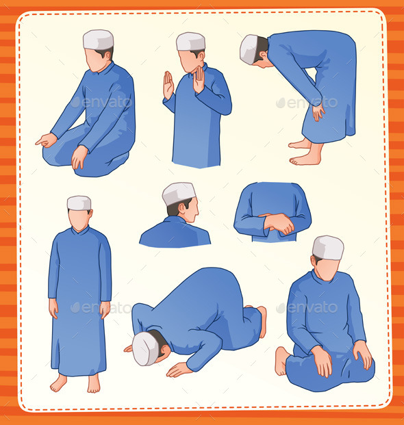 Muslim Praying Position  - Religion Conceptual