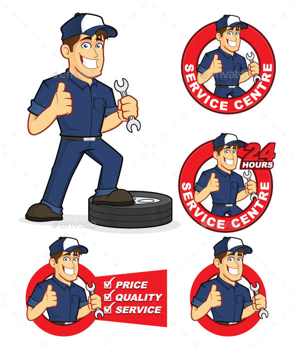 Auto Mechanic - People Characters