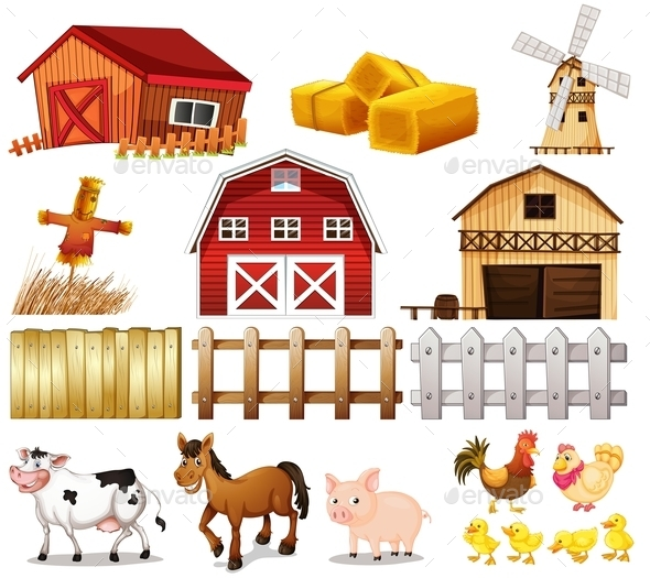 Things and Animals found at the Farm - Animals Characters