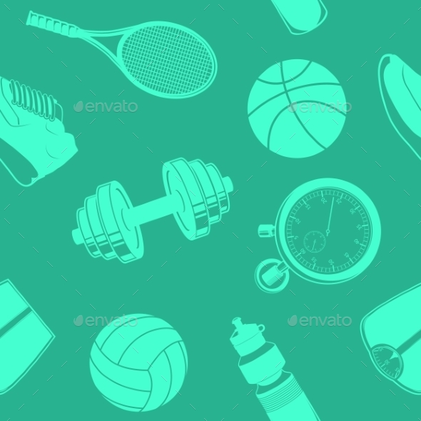 Sport Seamless Pattern. - Backgrounds Decorative