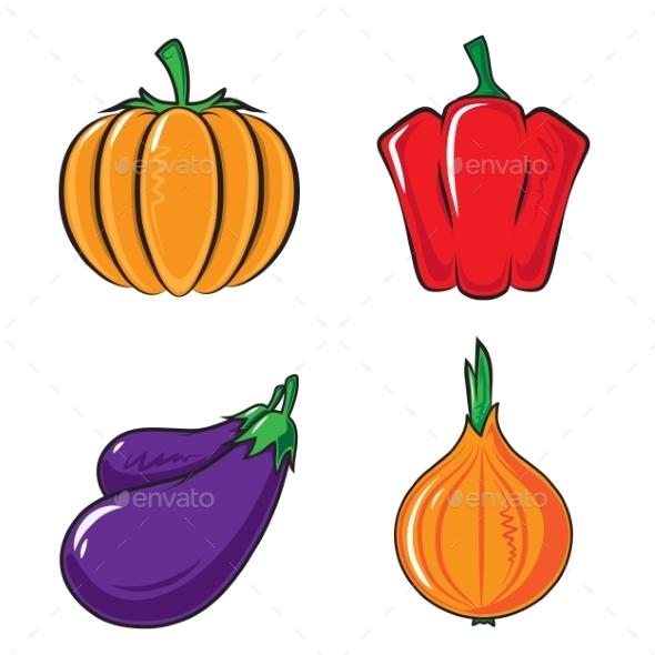 Vegetables Collection. - Backgrounds Decorative