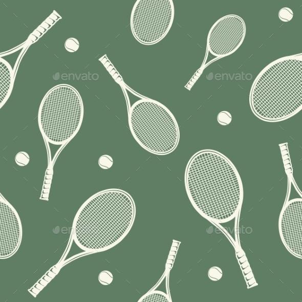 Tennis Rackets Seamless Pattern. - Backgrounds Decorative