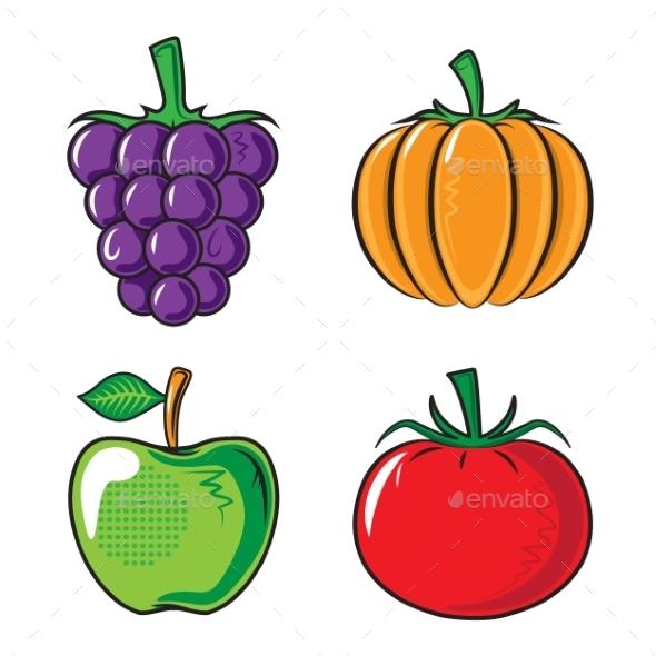 Vegetables Collection - Backgrounds Decorative