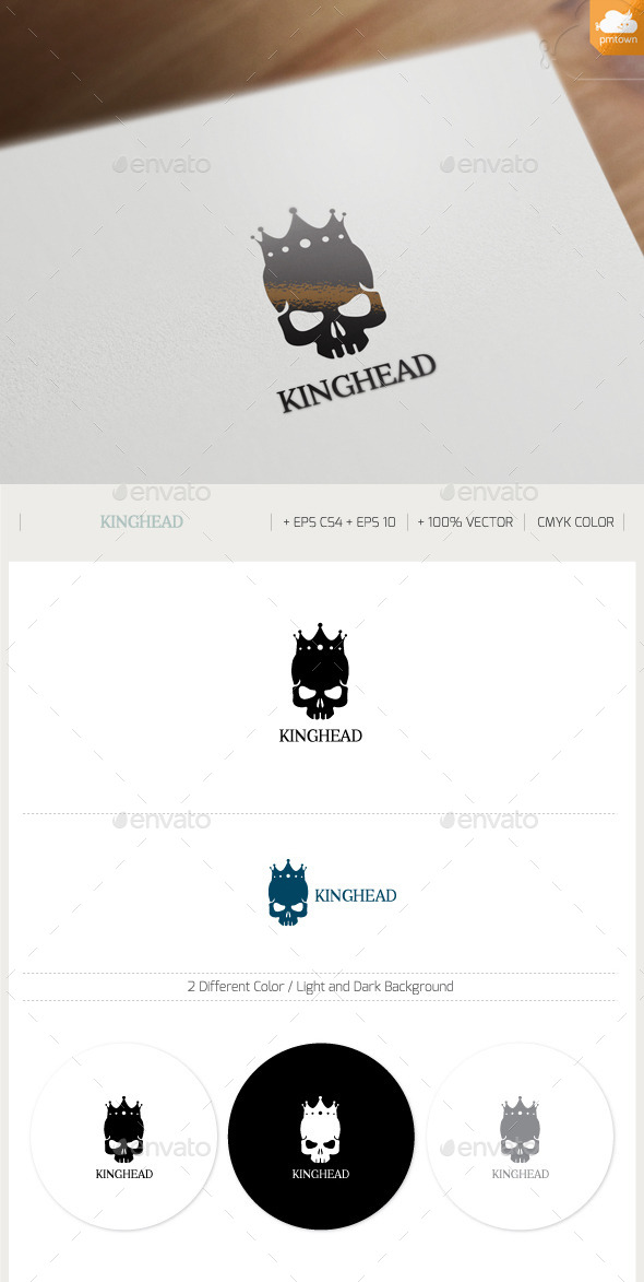 King Head - Humans Logo Templates
