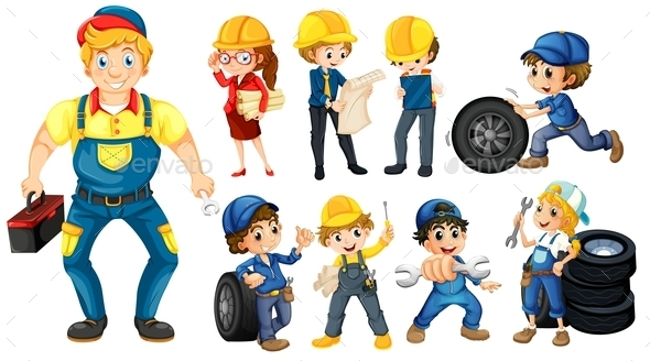 Workers - People Characters