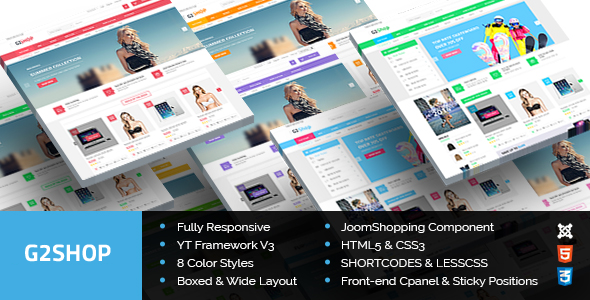 G2Shop – Responsive Ecommerce Joomla Template