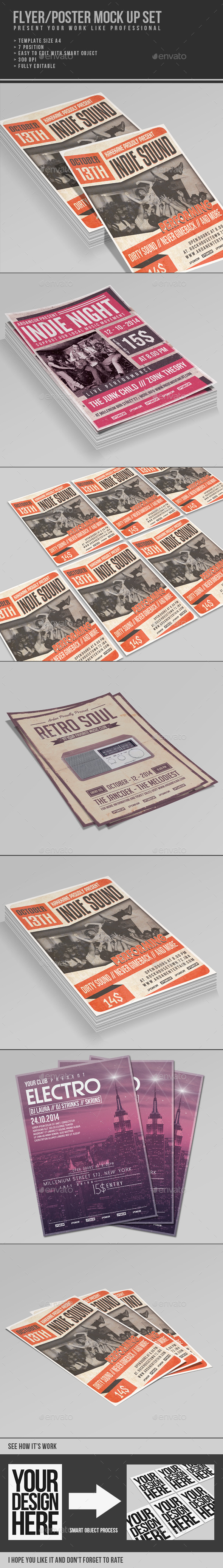 Multipurpose Flyer/Poster Mock Up - Flyers Print